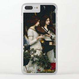 "John William Waterhouse ""Saint Cecilia"" Clear iPhone Case"