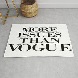 fashion quote, home decor Rug