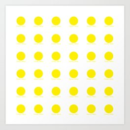 Canary Yellow Art Print