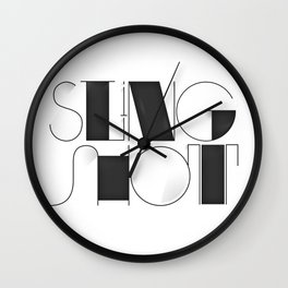Sling Shot Lettering Wall Clock
