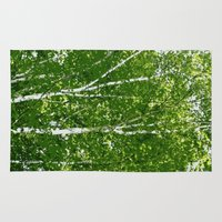birch Area & Throw Rugs featuring Birch Trees by Tru Artwear