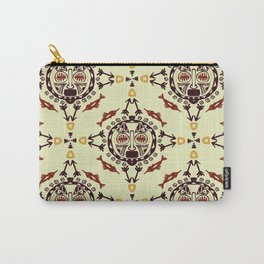 pattern with Tribal mask ethnic Carry-All Pouch