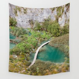 Plitive lakes from above | Croatia travel botanical photography Wall Tapestry