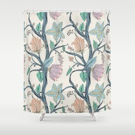 botanical pastel Shower Curtain