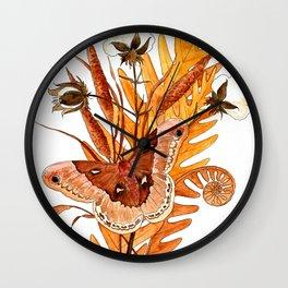 Promethea Moth Wall Clock