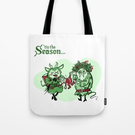 A Very Krampus and Belsnickel Christmas Tote Bag