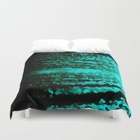 teal Duvet Covers featuring Teal  by 2sweet4words Designs