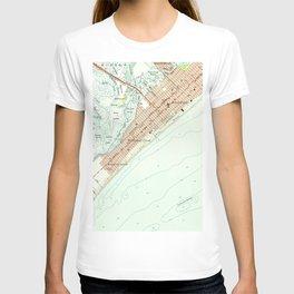 Vintage Map of Wildwood NJ (1955) T-shirt