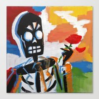 grim fandango Canvas Prints featuring Your Travel Agent - Grim Fandango by wildstar25