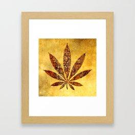 Vintage Cannabis Leaf Framed Art Print