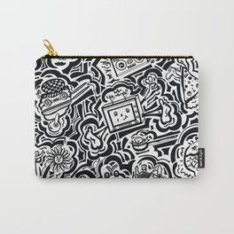 All Over - Black & White Print Carry-All Pouch