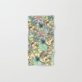 Nature Bloom Pattern Hand & Bath Towel