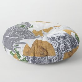 Tropical Toile Floor Pillow