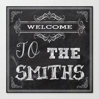 the smiths Canvas Prints featuring The Smiths by Jason Michael
