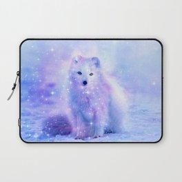 Arctic iceland fox Laptop Sleeve