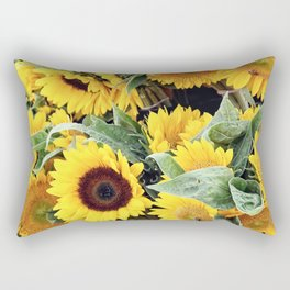 Happy Sunflowers Rectangular Pillow
