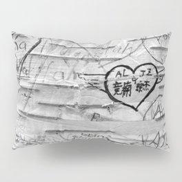 Love Memories in Lover's Lane, Green Gables, black white Pillow Sham