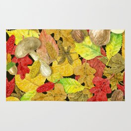 Watercolor autumn pattern Rug