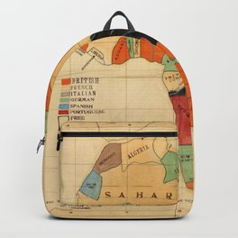 1908 Colonization Map of African Continent Color Coded by Occupying Country  Backpack