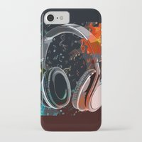 headphones iPhone & iPod Cases featuring Headphones by Gift Of Signs
