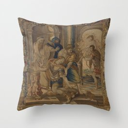 The Death of Achilles Throw Pillow