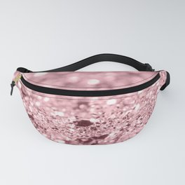 Rose Gold Blush Girls Glitter #1 #shiny #decor #art #society6 Fanny Pack