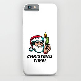 Irreverent Christmas times illustrations iPhone Case