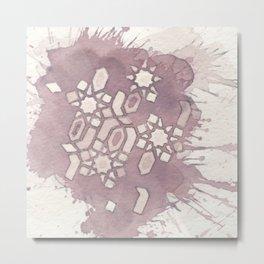 Cellular Geometry Metal Print