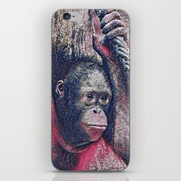 GlitzyAnimal_OrangUtan_002_by_JAMColors iPhone Skin