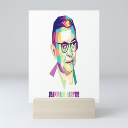 JEAN PAUL SARTRE Mini Art Print