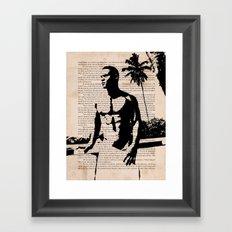 With a Wanton Hand Framed Art Print