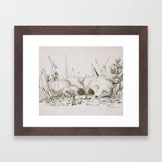 the fairy and the fox Framed Art Print