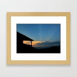 Sweet Silhouette * Little Switzerland  Framed Art Print