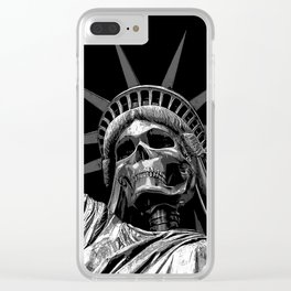 Liberty or Death B&W Clear iPhone Case