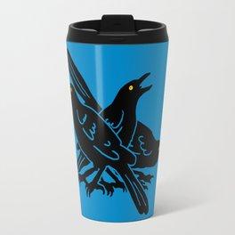 Grackles, the most diabolical birds, take over Austin, Texas Travel Mug