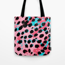 Cheetah Spots in Soft Pink and Blue Tote Bag