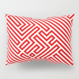Optical Chaos 02 red Pillow Sham