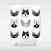 kittens Shower Curtains featuring Witchy Kittens by lOll3