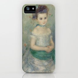 Portrait of Jeanne Durand-Ruel iPhone Case