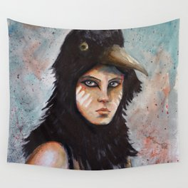 Raven girl Wall Tapestry