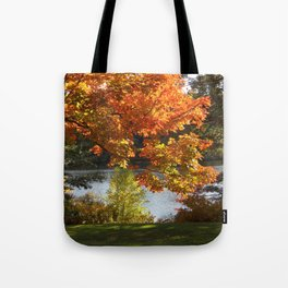 Fall Lake View, Wellesley College Tote Bag
