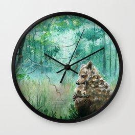 Mother Bear Hug Wall Clock