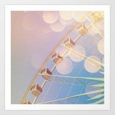 Dreaming of Ferris Wheel Art Print
