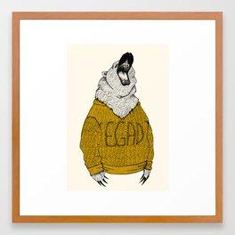 Exclaiming Roaring Bear Framed Art Print