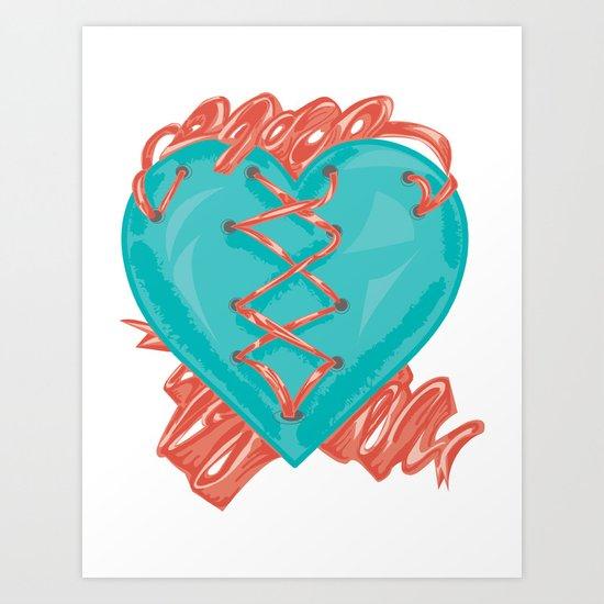 Ribbon Heart Art Print