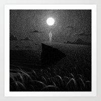 Drawlloween 2016: Moon Art Print