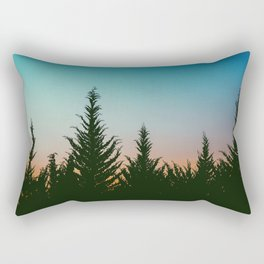 TREES - SUNSET - SUNRISE - SKY - COLOR - FOREST - PHOTOGRAPHY Rectangular Pillow