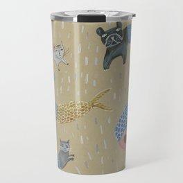 Raining Cats and Dogs Travel Mug