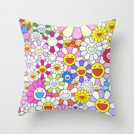 mukarami flowers Throw Pillow