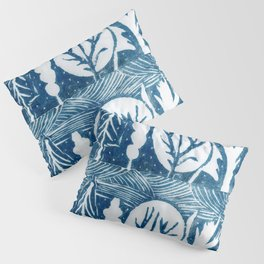 linocut trees print Pillow Sham